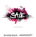 vector grungy scribble banner   ... | Shutterstock .eps vector #444434497
