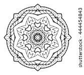 mandala. herbal decorative... | Shutterstock .eps vector #444454843