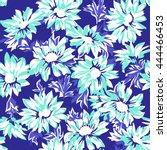 pretty daisy print   seamless... | Shutterstock .eps vector #444466453