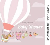 Baby Girl Shower Card With Hot...