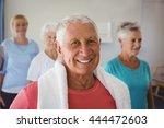portrait of senior smiling... | Shutterstock . vector #444472603