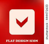 flat icon of check mark.