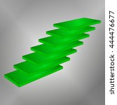 abstract green 3d staircase in... | Shutterstock .eps vector #444476677