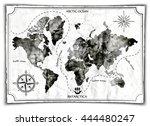old map  vector illustration | Shutterstock .eps vector #444480247
