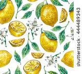 watercolor seamless pattern... | Shutterstock . vector #444489343