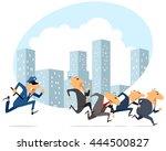 vector illustration of a many... | Shutterstock .eps vector #444500827