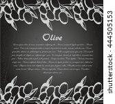 vector sketch of olive tree... | Shutterstock .eps vector #444505153