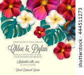 wedding invitation with... | Shutterstock .eps vector #444511273