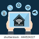 smart home represented by... | Shutterstock .eps vector #444524227