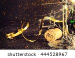 champagne ready to bring in the ... | Shutterstock . vector #444528967