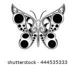 butterfly with an interesting...   Shutterstock .eps vector #444535333