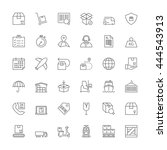 thin line icons set. flat... | Shutterstock .eps vector #444543913