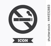 No Smoking Sign Icon. Cigarett...