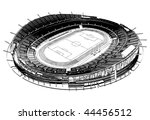 Football Soccer Stadium Vector 03 - stock vector
