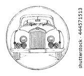 vector illustration of a retro... | Shutterstock .eps vector #444571513
