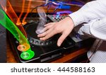 dj scratching with light trails | Shutterstock . vector #444588163