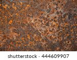 old grungy and dirty red rusty... | Shutterstock . vector #444609907