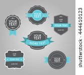 set of vintage tags vector... | Shutterstock .eps vector #444610123
