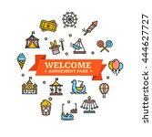 amusement park embleme can be... | Shutterstock .eps vector #444627727
