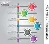 timeline infographics design... | Shutterstock .eps vector #444631717