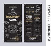 bakery menu design and bakery... | Shutterstock .eps vector #444643573