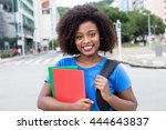 laughing female student from... | Shutterstock . vector #444643837
