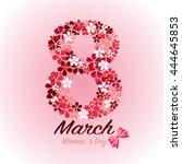 8 march  international woman 's ... | Shutterstock .eps vector #444645853