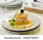 causa rellena  a typical dish... | Shutterstock . vector #444679807