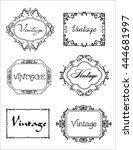 set of vintage frame. vector... | Shutterstock .eps vector #444681997