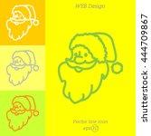 web line icon. santa claus | Shutterstock .eps vector #444709867