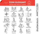high quality outline icons pack ... | Shutterstock .eps vector #444711283