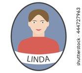 female avatar icon. portrait of ...