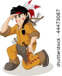 young indian chief sleuth | Shutterstock .eps vector #44473087
