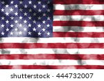 abstract usa flag on bubble... | Shutterstock . vector #444732007