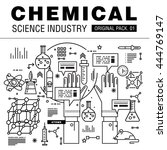 modern chemical science... | Shutterstock .eps vector #444769147