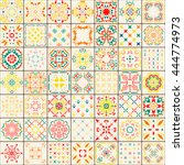seamless tile pattern. colorful ... | Shutterstock .eps vector #444774973