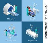 medical equipment 4 isometric... | Shutterstock .eps vector #444787627