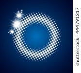 white shine dotted circle frame ... | Shutterstock .eps vector #444791317