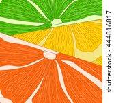 vector vivid citrus background. ... | Shutterstock .eps vector #444816817
