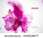 Energetic Pink Abstract Banner...