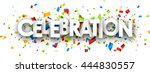 celebration paper banner with... | Shutterstock .eps vector #444830557