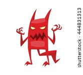 vector cartoon image of funny... | Shutterstock .eps vector #444831313
