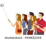 illustration of a group of... | Shutterstock .eps vector #444832243