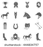horse icons set. vector... | Shutterstock .eps vector #444834757