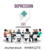 depression downturn decline... | Shutterstock . vector #444841273