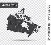 vector map   canada | Shutterstock .eps vector #444842737