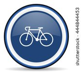 bicycle round glossy icon ... | Shutterstock . vector #444844453