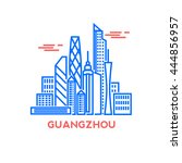 guangzhou city architecture...   Shutterstock .eps vector #444856957