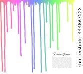 colored drops on a white... | Shutterstock .eps vector #444867523