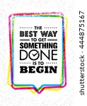 the best way to get something... | Shutterstock .eps vector #444875167